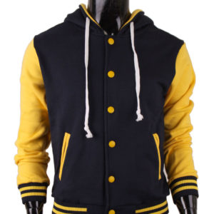 Men's Hoodie Baseball Jacket Varsity Jacket Sweatshirt Letterman Jacket 2