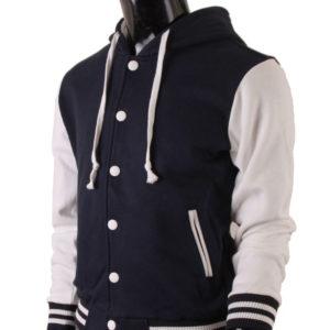 Men's Hoodie Baseball Jacket Navy Varsity Letterman Jacket 2