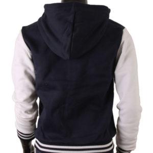 Men's Hoodie Baseball Jacket Navy Varsity Letterman Jacket 4