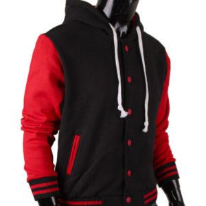 Men's Jacket Hoodie Baseball Jacket Varsity Letterman Jacket 2