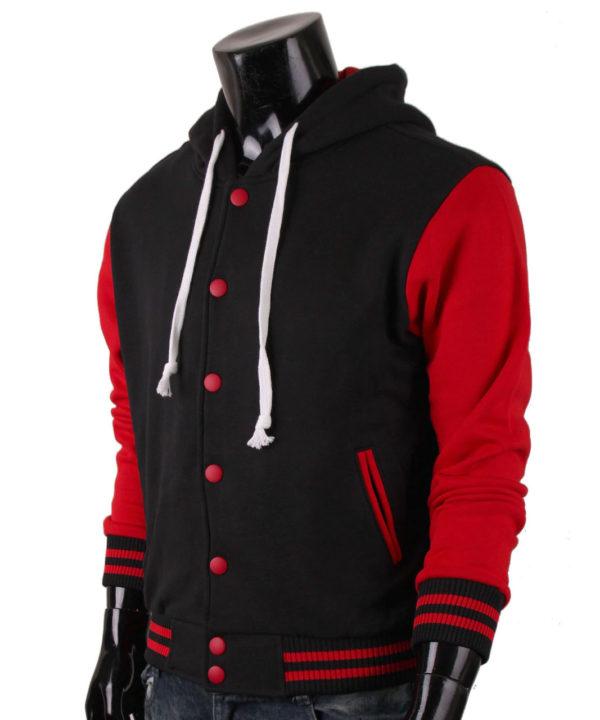 Men's Jacket Hoodie Baseball Jacket Varsity Letterman Jacket 4