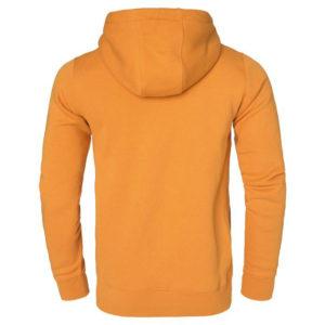 Yellow Men Cotton Fleece Hoodie Zipper 6
