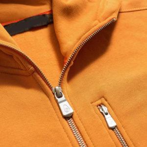 Yellow Men Cotton Fleece Hoodie Zipper 5