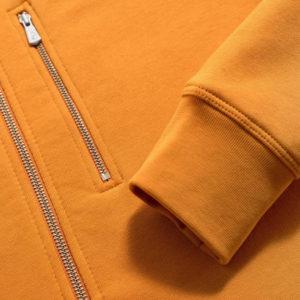 Yellow Men Cotton Fleece Hoodie Zipper 4