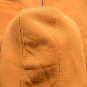 Yellow Men Cotton Fleece Hoodie Zipper 3
