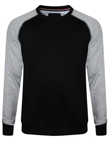 Black Sweatshirt With Grey Sleeves For Men And Women 1
