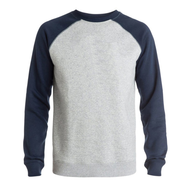Grey Sweatshirt with Navy Sleeves for Men and Women 1