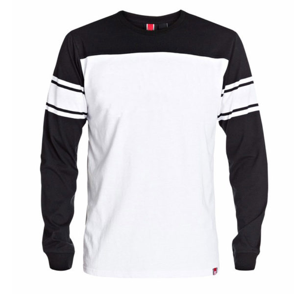 White Sweatshirt Contrast with Black for Men and Women 1