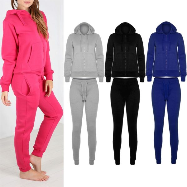 Womens Tracksuit Set Ladies Jogging wear Bottom 7