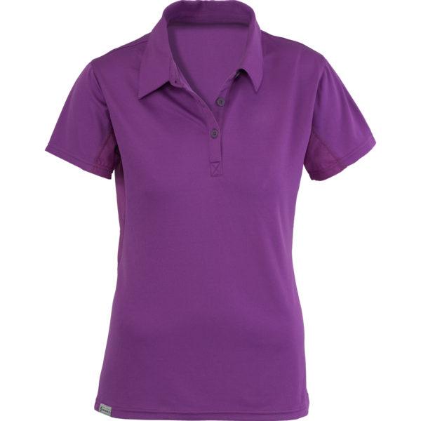Flat Purple Polo Shirt For Women 1