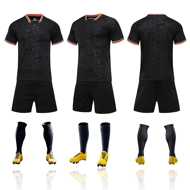 2021-2022 football jersey in black custom men thai quality cheap soccer