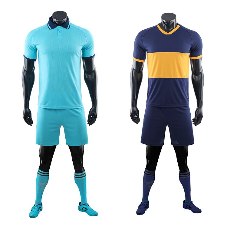 2021-2022 long sleeve football jersey black blank latest soccer design