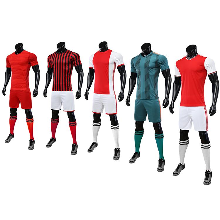 2021-2022 maillot foot long sleeve soccer uniforms kids custom fabric uniform