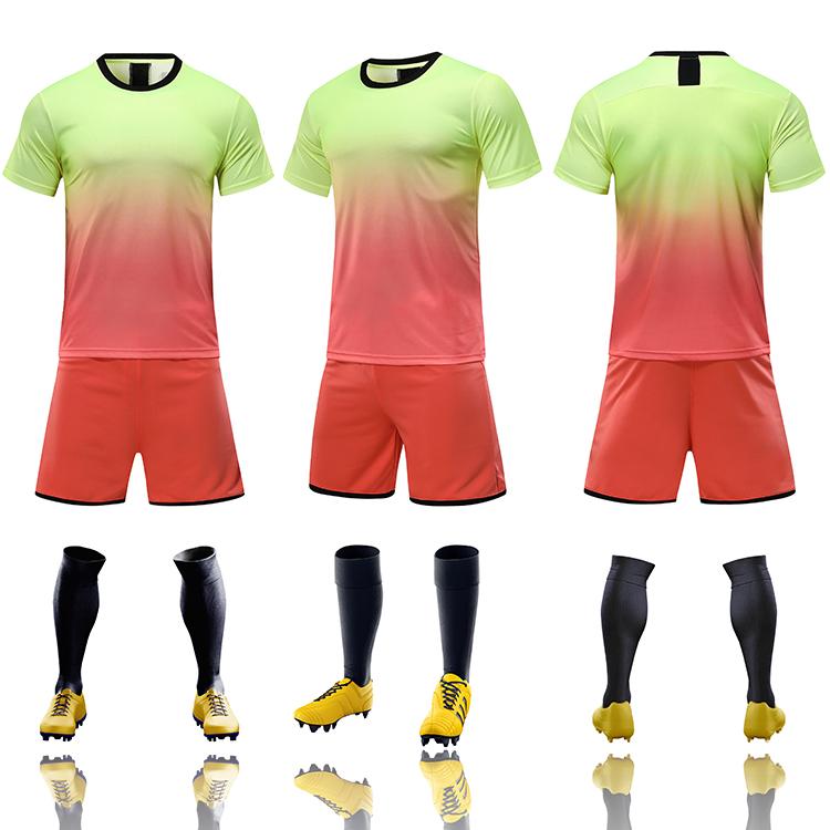 2021-2022 youth football jerseys wholesale yellow soccer jersey uniforms