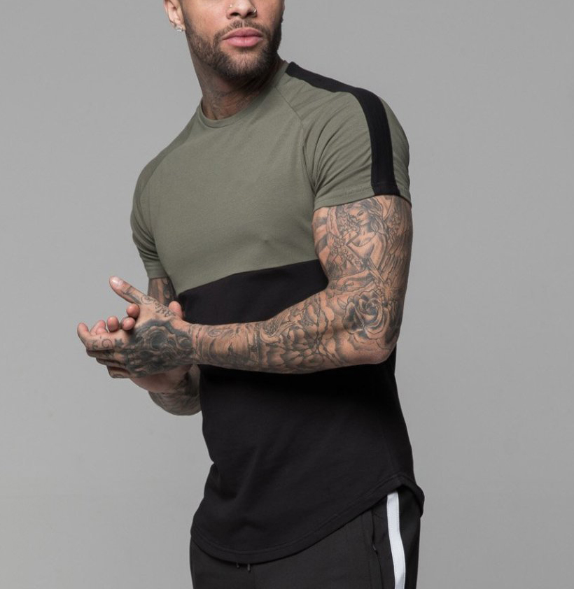 100% Cotton Blank Graphic Curved Hem T Shirts