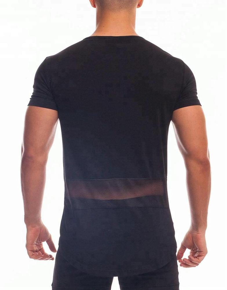 100% Ring Spun Cotton Crew Neck Gym T Shirt For Men