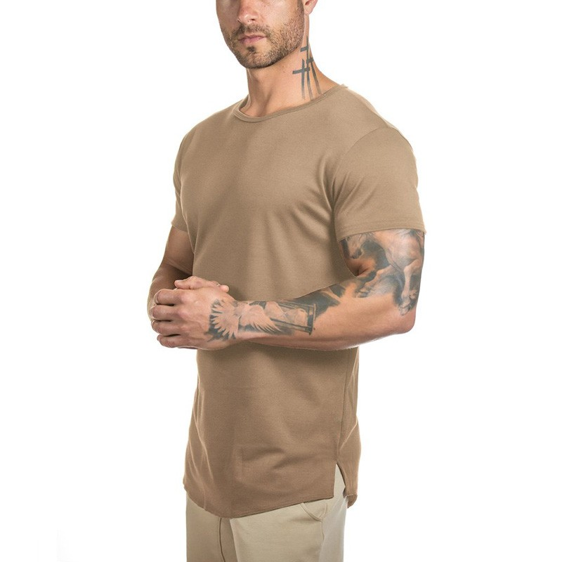 2020 New mode OEM Casual Blank Round Hem Shirt For Mens