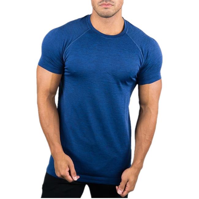 2020 Hot sale polyester custom logo plain men dry fit t shirts