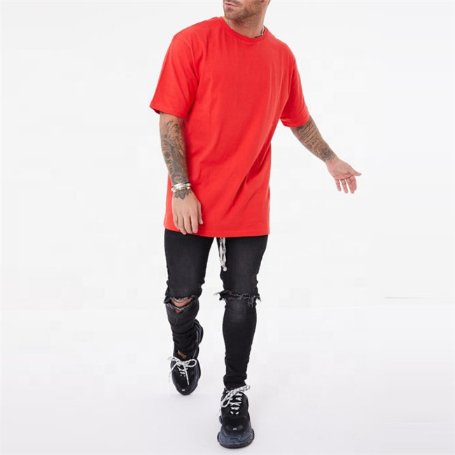 2020 New mode casual pima cotton oversize t shirt for mens