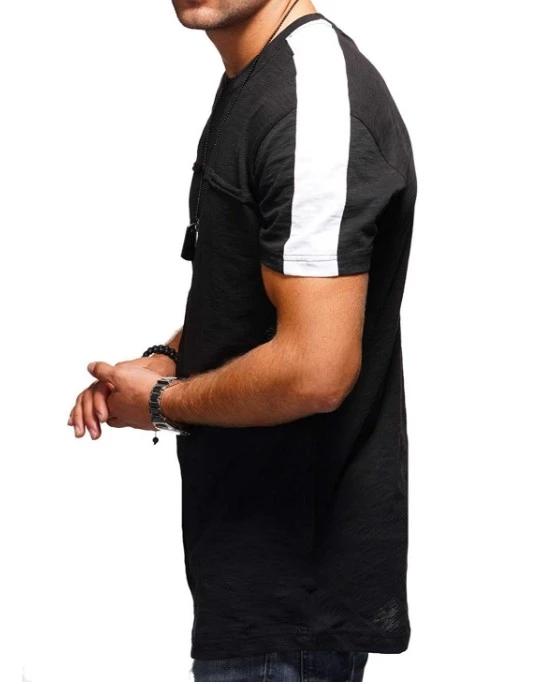 2020 Fashion Oem Blank Custom Sport Gym Patchwork T-shirt