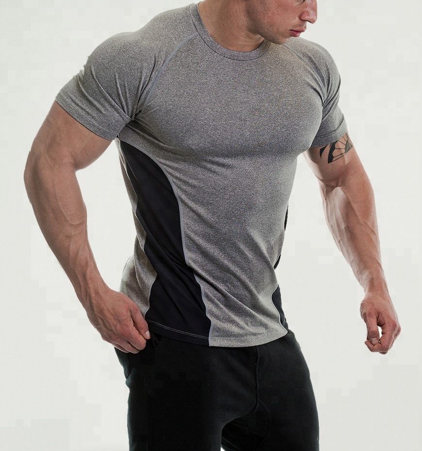 2020 moisture wicking slim fit wholesale gym clothing for men