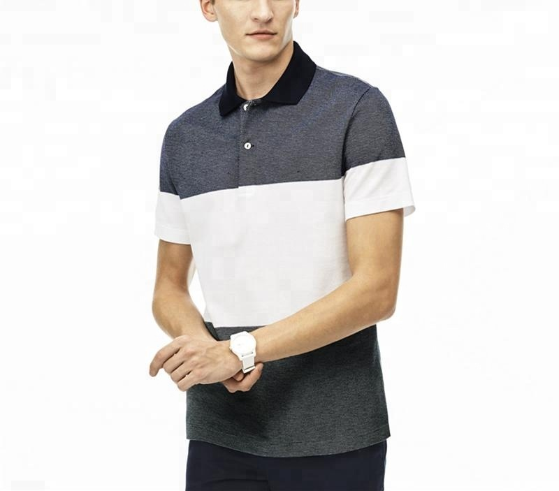 Hot Sell Men's Patchwork Golf Sports Polo Shirts