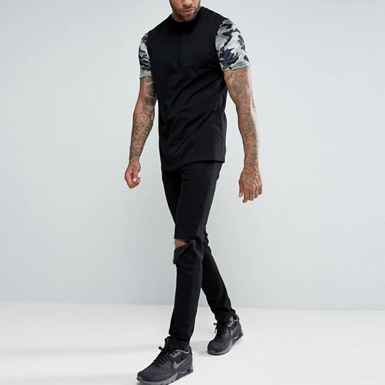 Hot Sale Sports Athletic Short Sleeve Digital Camo Male T Shirts
