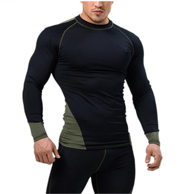 OEM long sleeve bodybuilding t shirt gym running workout clothing