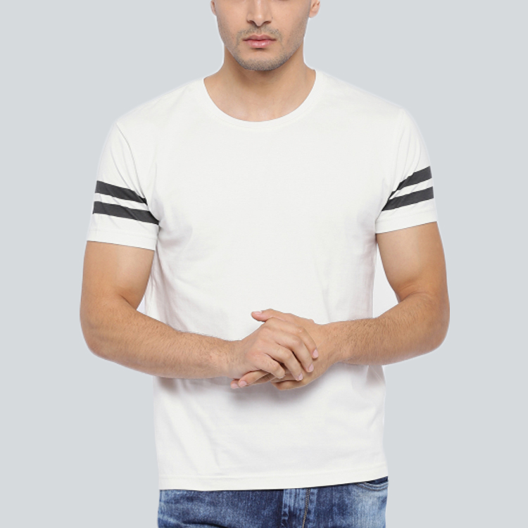 Popular 95% Cotton 5% Spandex Men Custom Logo T-Shirts