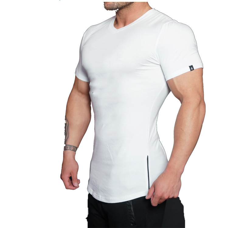 Cheap Custom Printed Blank Men Muscle Fit Bodybuilding Sports T Shirts