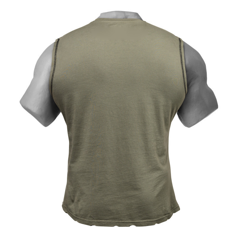 Custom Combed Cotton Printed Streetwear Mens Gym Sleeveless T Shirt