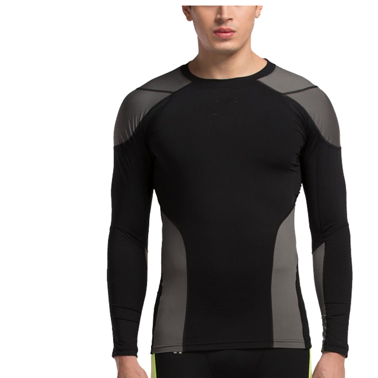 Custom Sports Running Wear Long Sleeve Compression T Shirt Men