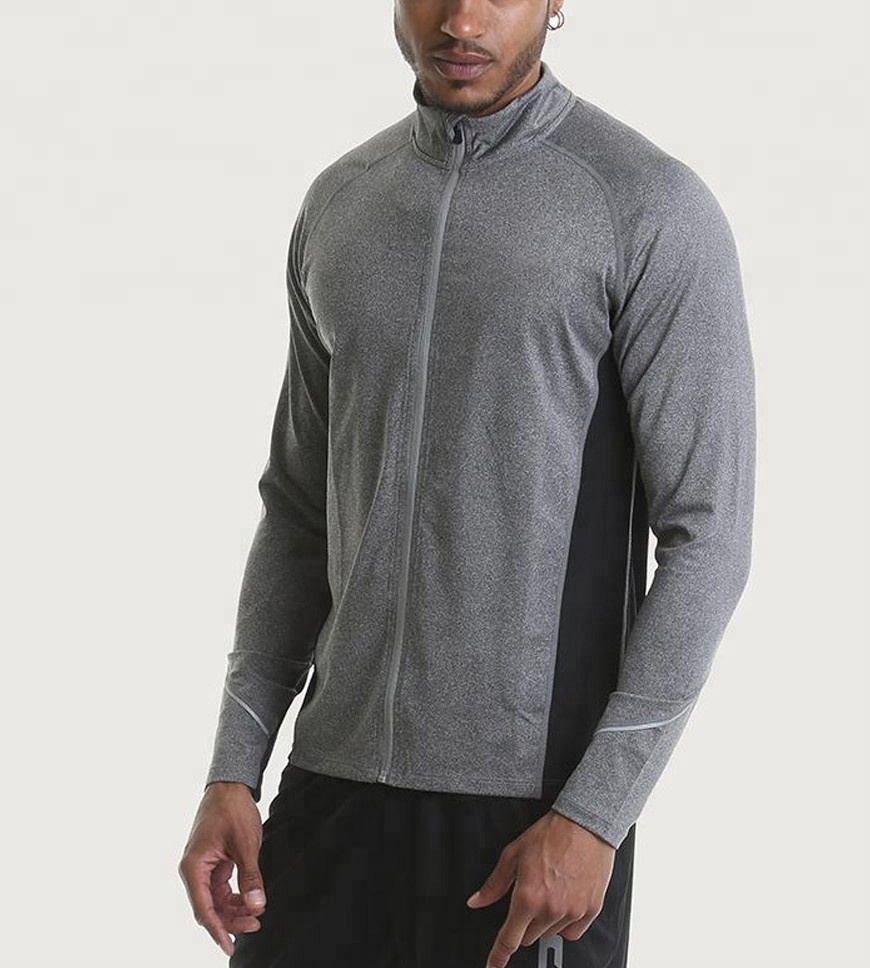High Quality Zip Up Mens Hoodies Sweatshirts Without Hood