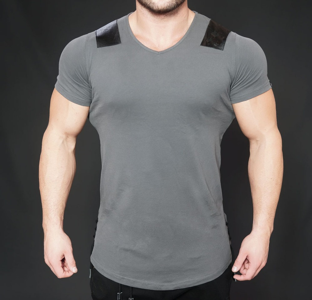 Latest Custom Longline Streetwear Mens Fitness Gym T Shirt
