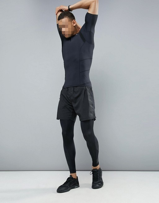 Muscle Bodybuilding Gym Clothing Compression Workout T Shirt For Mens