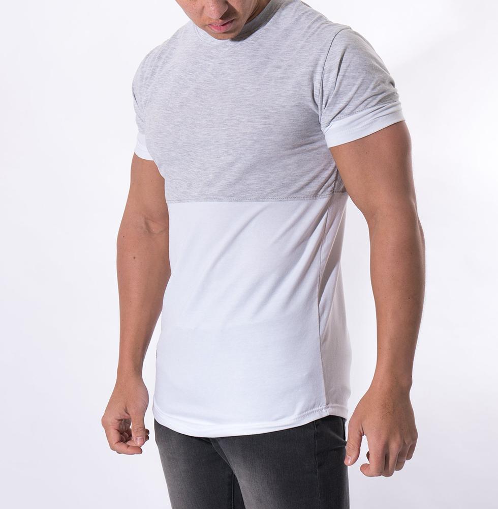 News Soft Pima Cotton Tapered Fitness Longline T Shirt