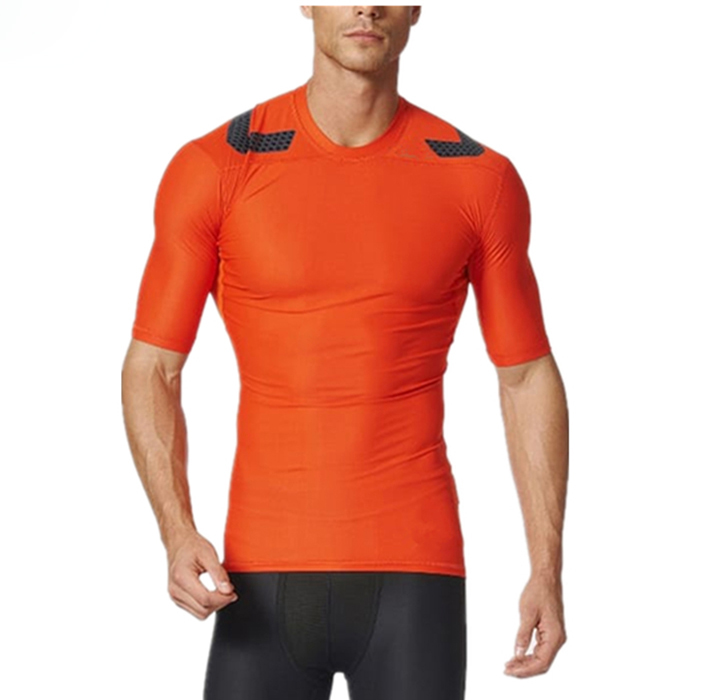 tight fit men gym workout sportswear dry fit running t shirt