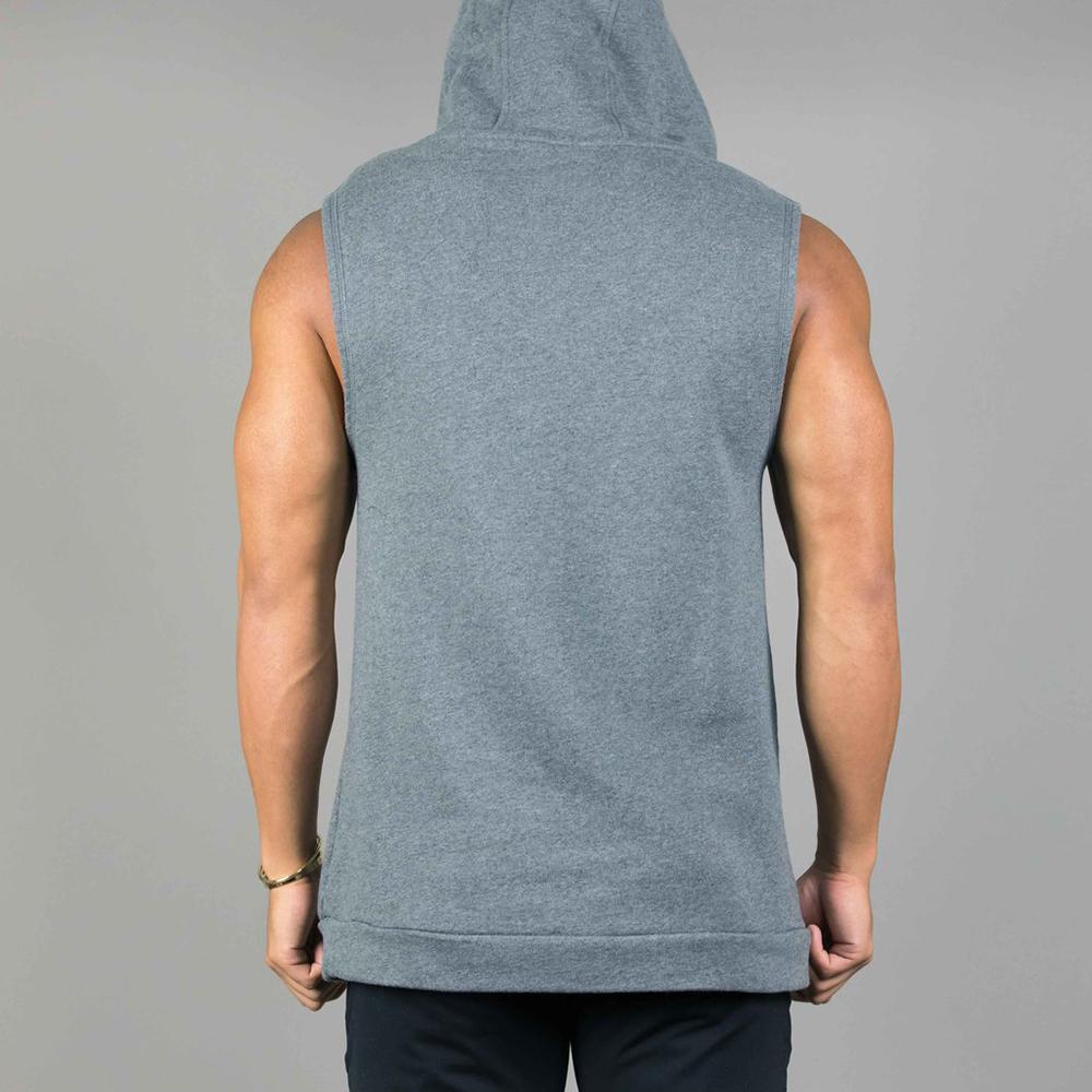 Wholesale Athletic Wear Sleeveless Hoodie Sweatshirt