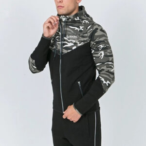Cotton Polyester Custom Camo Plain Fitness Hoodie