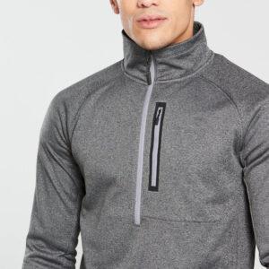 Men Gym Fashion Grey Fleece Hoodie