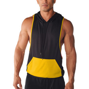 Bodybuilding Gym Clothing Stringer Hoodie For Men