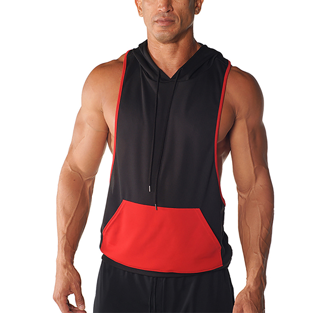 Bodybuilding Gym Clothing Stringer Hoodie For Men