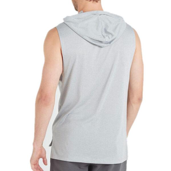 Custom Cotton Blank Gym Wear Plain Fitness Men's Sleeveless Hoodies