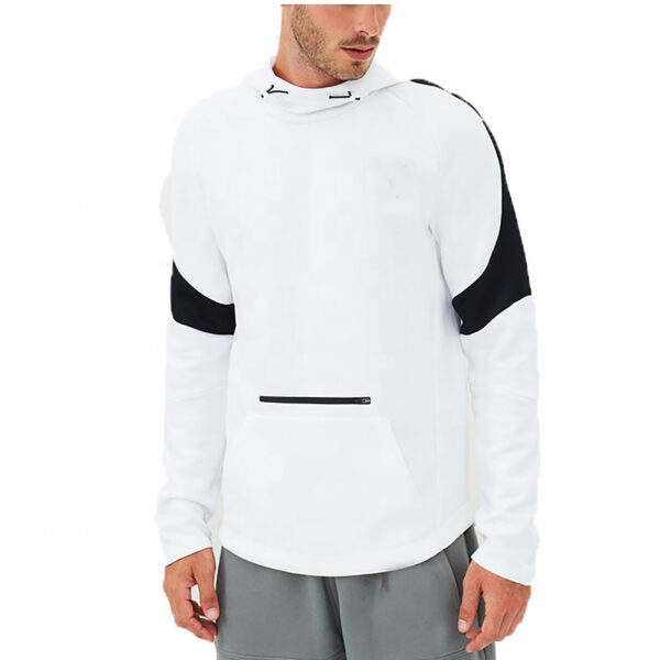 Custom Blank Color Block Fleece Pullover College Hoodies