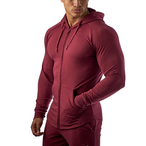 Custom Lightweight Men Sport Fitness Hoodie