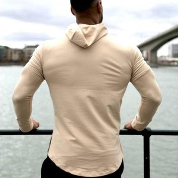 Custom Long Sleeve Hoodie Muscle Men's Gym Workout Clothing